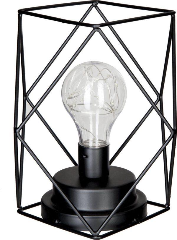 Tafellamp zwart industrieel 12 hoeken