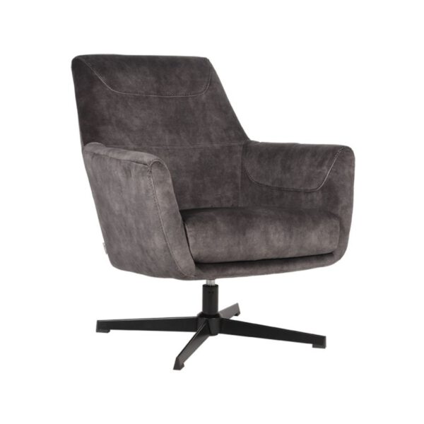 Fauteuil Toby Antraciet