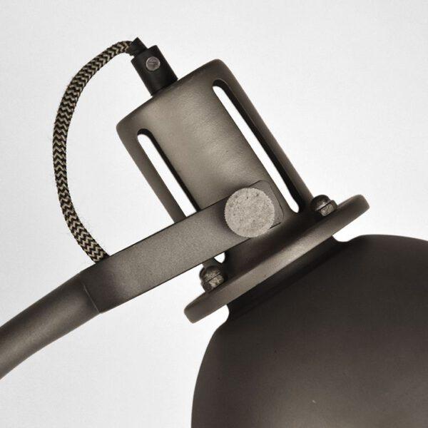 Vloerlamp Spot burned steel